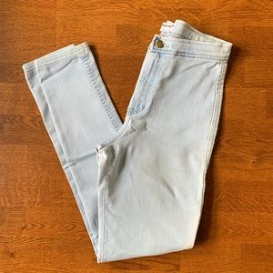 American Apparel Light Blue Stretch Jeans